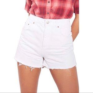 Topshop White Mom Shorts